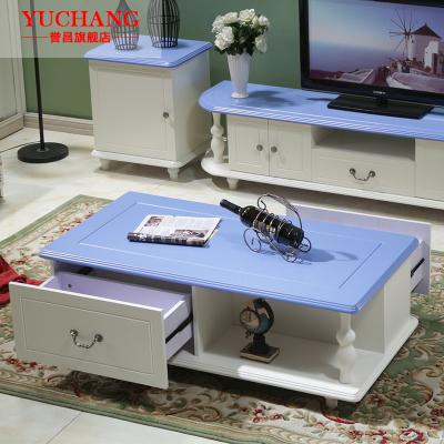 妙旭地中海茶幾簡約小戶型客廳創意儲物茶幾電視柜組合現代烤漆小茶桌