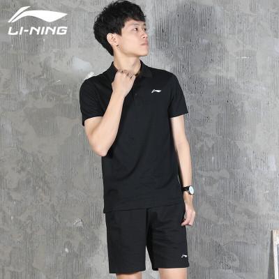李寧(LI-NING)運動T恤翻領POLO衫短袖男 夏季正品大碼棉質透氣修身休閑半袖上衣