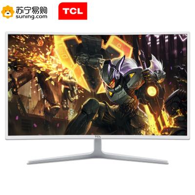 TCL 31.5英寸 Adaptive-Sync同步技術75HZ平民電競1800R曲面廣視角濾藍光顯示器T32M7C