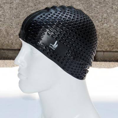 三奇內顆粒長發防水泡泡硅膠泳帽大號成人男女款時尚游泳運動裝備