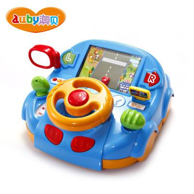 澳貝(AUBY) 動感駕駛室 寶寶兒童1-3歲模擬駕駛開車玩具 塑料玩具 非充電 3面場景10種駕駛體驗463428DS