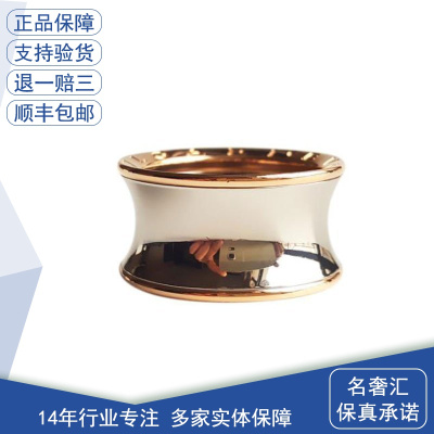 【正品二手95新】BVLGARI 寶格麗 B.ZERO1系列 18K玫瑰金配精鋼戒指 AN855685