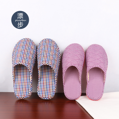 漂步 春秋居家棉拖鞋女 客人室内地板拖鞋轻便保暖冬季棉拖鞋情侣GZ1