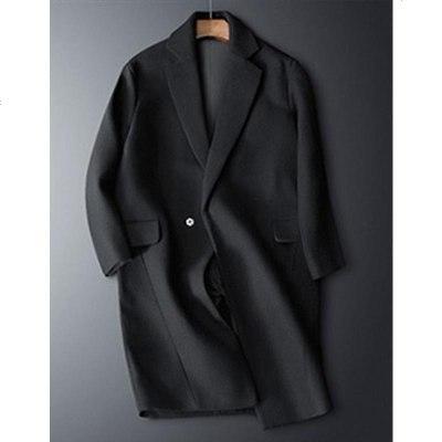 新款风衣男中长款冬季加厚潮流羊毛呢子外套毛妮落肩大衣