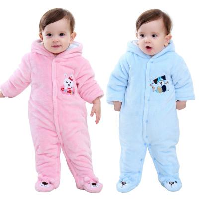 搭啵兔嬰兒連體衣秋冬季寶寶外出服冬裝加厚保暖棉衣3哈衣嬰兒衣服0-1歲【3月28日發完】
