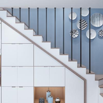 簡約現代樓梯扶手室內創意閣樓別墅閃電客圍欄防護欄桿北歐鐵藝家用 方管I型(每米)