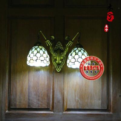 蒹葭帝凡尼燈具裝飾工藝歐式壁燈鏡前浴室燈簡約現代美人魚雙壁燈 07款雙頭帶鉤
