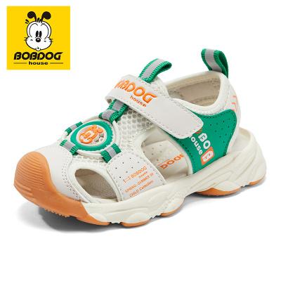 BOBDOG HOUSE巴布豆童鞋兒童涼鞋夏季男童女童寶寶1-3歲沙灘鞋B8657