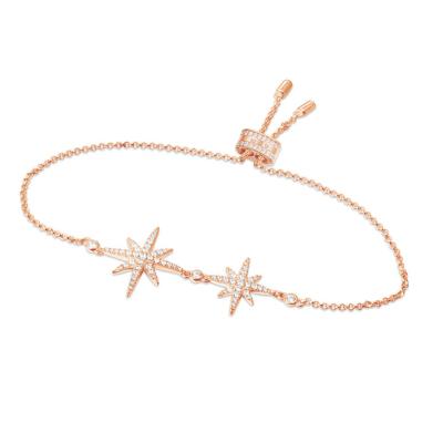 【apm MONACO】大小星星手腕鏈簡約百搭女士925銀手鏈手串流星時尚首飾學生送禮奢華貴族