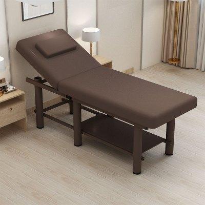 折疊美容床美容院專用按摩床推拿床理療家用床帶洞紋繡美體火療床
