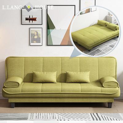 HOTBEE北欧布艺可折叠沙发床小户型两用双人经济型坐卧客厅单人多功能