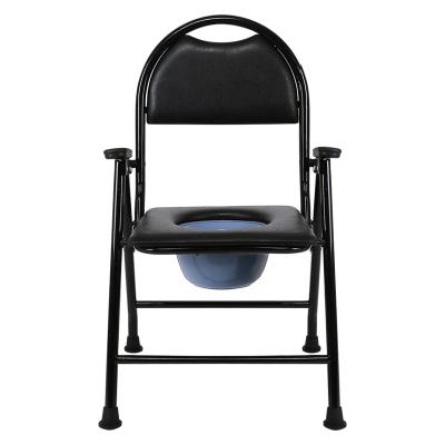 老人坐便椅可折疊孕婦坐便器家用移動馬桶老年殘疾人病人座大便椅