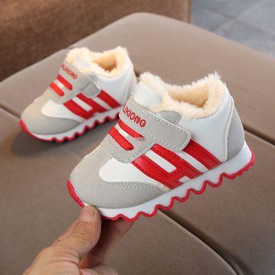 童趣熊PLAYFUL BEAR 冬季0-1-3歲寶寶鞋男女寶寶加絨棉鞋軟底防滑嬰兒鞋學步鞋運動鞋