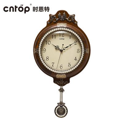 cntop創意鐘個性掛鐘歐式客廳現代簡約掛鐘靜音大氣時鐘石英鐘表