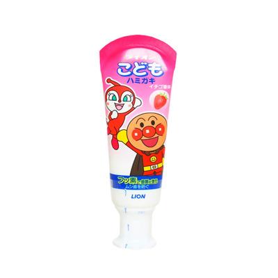 獅王(LION)面包超人酵素兒童護理牙膏草莓味 40g 殺菌防蛀美白 單支裝 日本原裝進口
