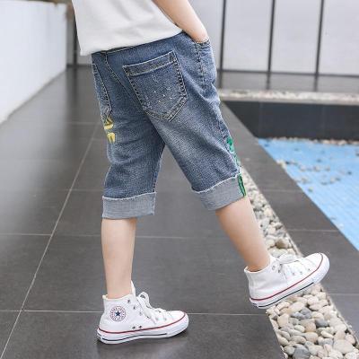 男童牛仔短裤夏装新款儿童裤子中大童薄款七分裤休闲裤潮童装