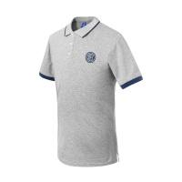 【拼购价49】国际米兰俱乐部Inter Milan19年棉质T恤新品夏季男士短袖官方运动休闲潮流翻领经典POLO衫修身版型 灰色 L