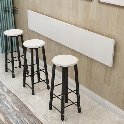 現代客廳長條窄桌子吧臺桌家用靠墻咖啡長條吧臺壁掛式高腳掛墻定制