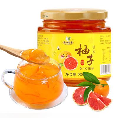 【買就送不銹鋼勺】杯口留香蜂蜜柚子茶 500克果味茶蜜煉柚子茶