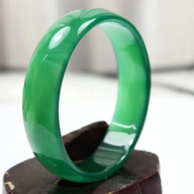 臻玉盈天然綠瑪瑙玉髓手鐲玉髓手鏈冰種綠瑪瑙手環手鐲批自戴送人收藏