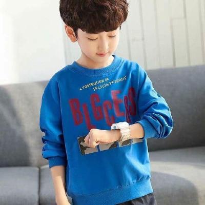 男童加絨衛衣秋冬中大童套頭上衣兒童加厚保暖T恤洋氣打底衫13歲 莎丞