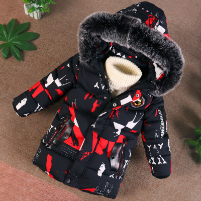 男童羽绒棉衣童装冬装加厚外套中长款儿童棉服小孩冬季迷彩童棉袄