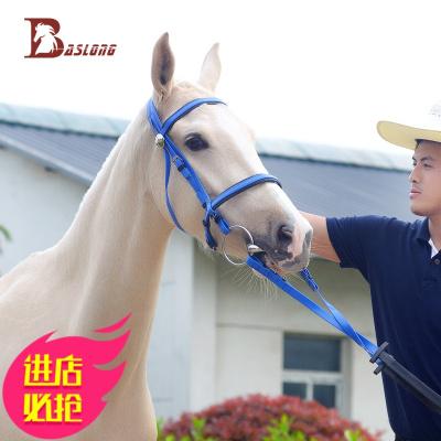 馬籠頭 水勒韁繩鼻勒藍色PVC套裝高性價比牽馬龍頭 八尺龍牽馬繩
