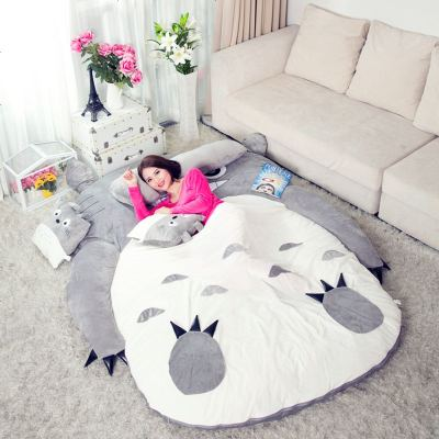 龙猫床榻榻米床垫懒人床单人简易沙发床双人春季保暖床褥加厚地铺