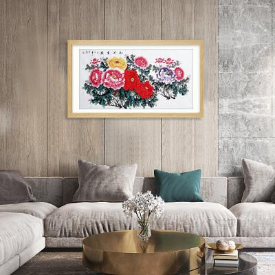 《雍容华贵系列》写意花鸟横幅八平尺