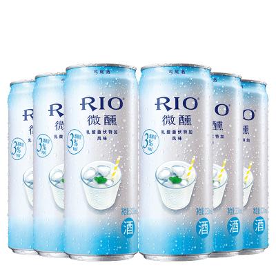 銳澳(RIO)洋酒 雞尾酒 預調酒 乳酸菌味330ml*6