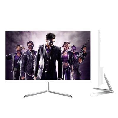 电脑台式机显示器19/22/24/27/32寸曲面2K屏幕144监控IPS显示屏游戏 24寸白色窄边显示器 HDMI V