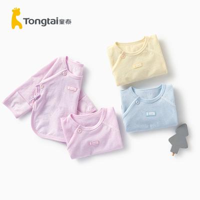 童泰(TONGTAI)2020年夏季新款嬰兒衣服0-3月新生兒上衣家居內衣半背衣兒童內衣兩件裝