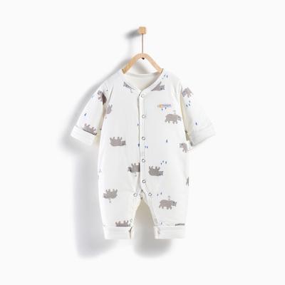 童泰TONGTAI嬰童棉服秋冬純棉薄棉連體衣1-24個月寶寶哈衣爬服兒童通用90cm