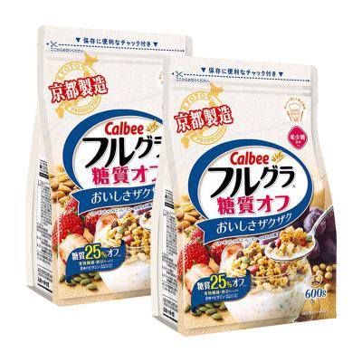 2件装|CALBEE卡乐比 水果麦片减糖麦片600g