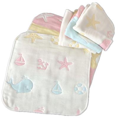 6層紗布兒嬰兒口水巾 寶寶小方巾洗臉巾手帕洗澡毛巾