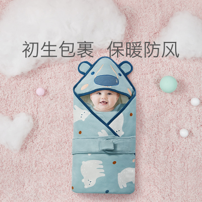 babycare嬰兒抱被 新生兒初生春秋薄款純棉襁褓巾四季通用包被