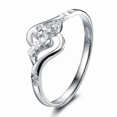 珂蘭鉆石 時尚Pt950鉑金戒指女戒 優雅戒指女士 愛尚 約2.0-2.2克 情人節禮物送女友