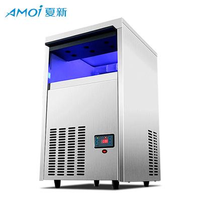 夏新商用制冰機方塊冰塊機自動奶茶店酒吧KTV 100KG制冰機 6*12格