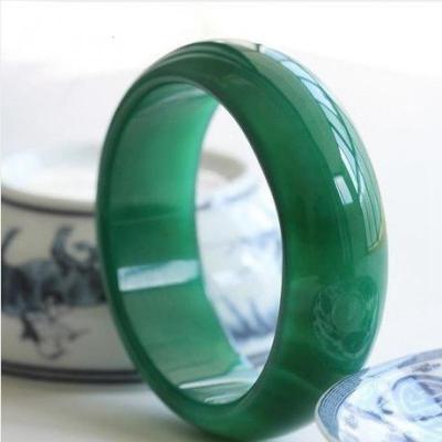 臻玉盈天然綠瑪瑙玉髓手鐲玉髓手鏈 加寬加厚特級冰種綠瑪瑙手環批自戴送人收藏