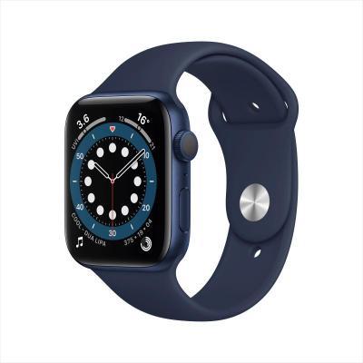 Apple Watch Series 6 44毫米 (GPS版 藍色鋁金屬表殼 深海軍藍色運動型表帶)