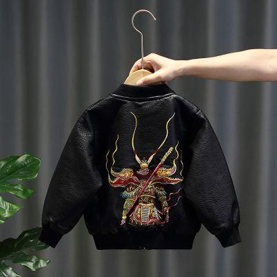 佐歐雅兒童皮衣男童外套寶寶皮夾克2020新款嬰兒小童春秋裝洋氣機車服潮