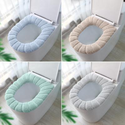梦妮 加绒马桶垫厕所坐垫加厚家用套入式防水坐便垫子卫生间通用马桶圈