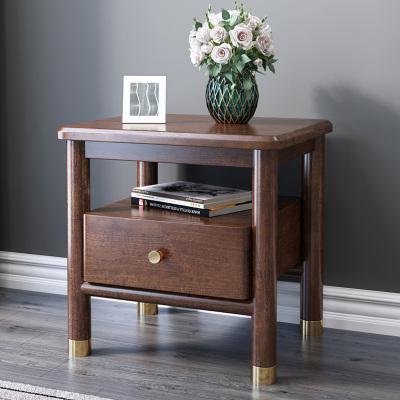 木格尚品 北欧实木床头柜轻奢胡桃木新中式现代简约床边实木收纳柜储物一体柜