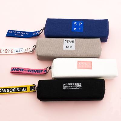 筆袋女簡約大容量帆布日系初中小學生嬰童文具盒智扣少女心可愛鉛筆盒貓系(四方款)