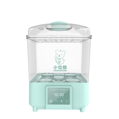 小壯熊,XIAOZHUANGXIONG嬰兒奶瓶消毒器帶烘干三合一暖奶寶寶專用KH918透明綠