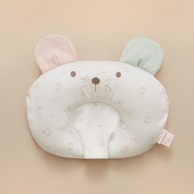 棉花堂嬰兒定型新生兒初生防偏頭寶寶枕頭0-3-6個月針織U型定型枕
