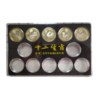 郵幣商城 第二輪十二生肖大全套 生肖紀念幣 10元面值27mm 銅合金硬幣 內含五枚生肖幣加收藏盒 收藏聯盟 錢幣藏品