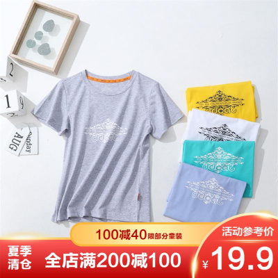【季末清倉】叮當貓童裝男童夏季新款男中大童休閑針織衫男孩圓領套頭T恤衫