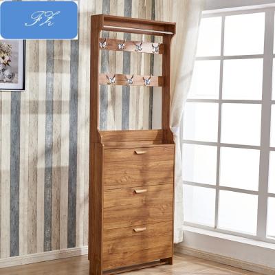 蘇寧精品 客廳鞋柜衣帽柜組合現代簡約鞋柜帶掛衣架一體多功能經濟型廳柜