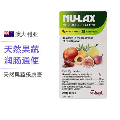 【润肠清宿便】NU-LAX 天然果蔬乐康膏 250g/盒 澳洲进口 膳食纤维【有效期至2月23】